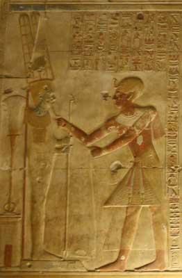 Amun with Seti I