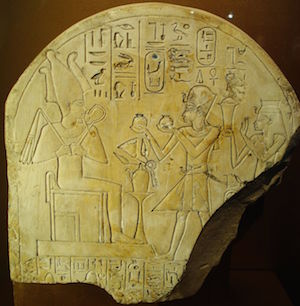 Ahmose Nefertari and her son Amenhotep I making offerings to Amun copyright One Dead President