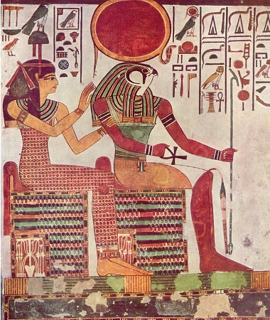 Amentet and Ra, tomb of Nefertari