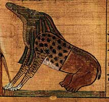 Ammit, Book of the Dead of Ani, Nineteenth Dynasty