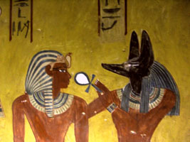 Anubis with Thuthmisis IV copyright Neithsabes