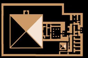 Khentkaus II pyramid plan