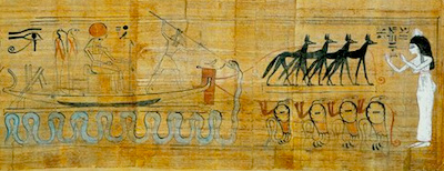 Set spearing Apep, Papyrus of Heruben, 21st dynasty copyright Soutekh67