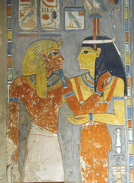 Amentet in the tomb of Horemheb copyright Jean-Pierre Dalbéra