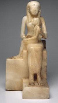 Ankhesenpepi II holding Pepi II, Brooklyn Museum