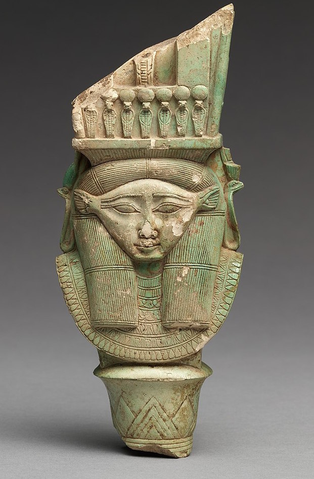 Bat / Hathor : fragment from a sistrum - Late Period Dynasty 26–29