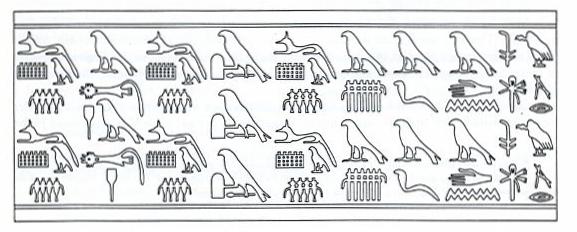 Den's kings list Dreyer, Ein Siegel der frühzeitlichen Königsnekropole von Abydos 1987 p33-43 fig. 3