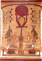 Isis and Nepythys with the Ankh from the Papyrus of Ani (Book of the Dead)
