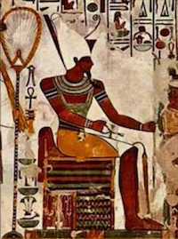 Atum in the tomb of Nefertari, copyright Yourmajezty