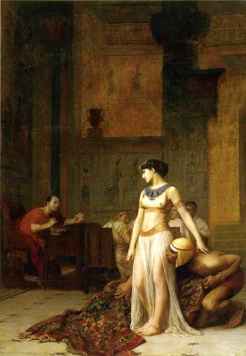 Cleopatra and Caesar by Jean-Leon Gerome 1866
