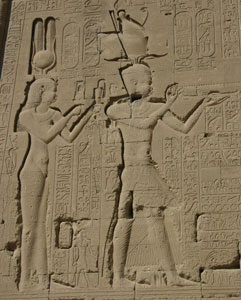 Cleopatra and Cesarion at Dendera copyright Alex Lbh