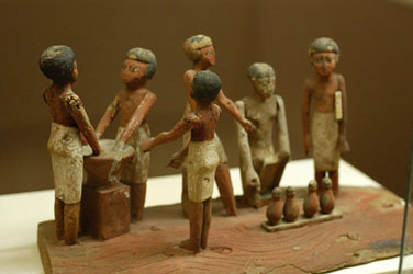 wooden model of beer making in ancient Egypt copyright E Michael Smith