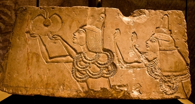 Ay and Tiy receiving the gold of honour, from his Amarna tomb copyright D. Denisnkov