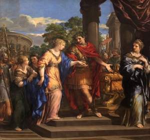 Caesar giving Cleopatra the throne by Pietro de Cortone