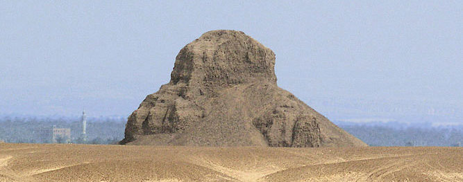 black pyramid of Amenemhat III at Dashur from www.egyptarchive.co.uk