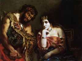 Cleopatra and the peasant, Delacroix