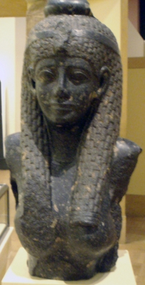 Egyptian style bust of Cleopatra VII copyright Keith Schengili Roberts