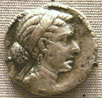 coin depicting the profile of Cleopatra VII