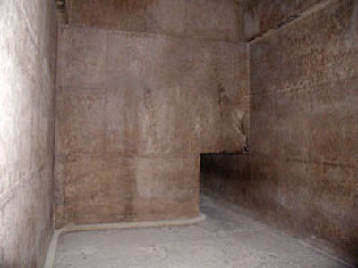 chamber of the Red Pyramid from www.egyptarchive.co.uk