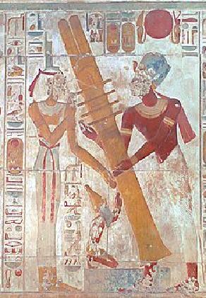 Setting raising the Djed at Abydos, Jon Bosworth