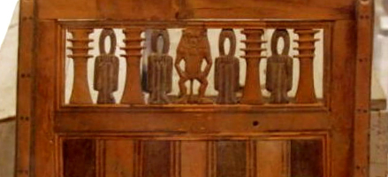 Detail from chair, Tomb of Ramose and Hatnofer 18th Dynasty