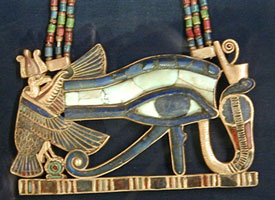 Eye of Horus pendant from www.egyptarchive.co.uk