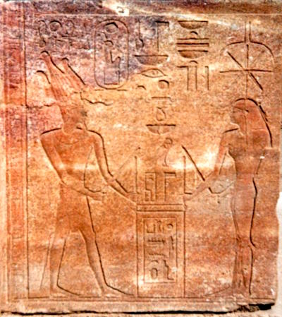 Hatshepsut with Seshat founding the Red Chapel @Lothar Derstroff