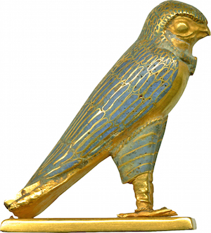 Gold Horus falcon