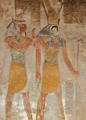 Geb and Horus, KV14
