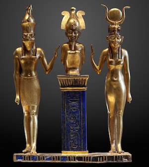 Osiris, Isis, and Horus, 22nd Dynasty
