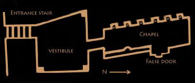 Plan tomb G7102
