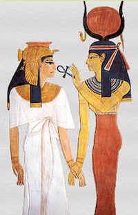 Isis with Nefertari