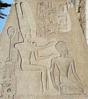 Amun choosing Hatshepsut
