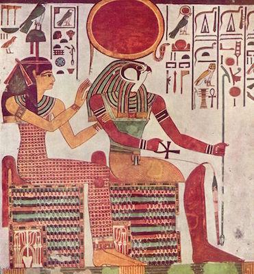 Ra-Horakhty with Hathor, Tomb of Nefertari