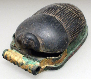 Scarab of Sobekemsaf with human face, NK