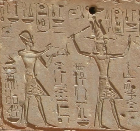 Tuthmosis III and Hatshepsut at Karnak