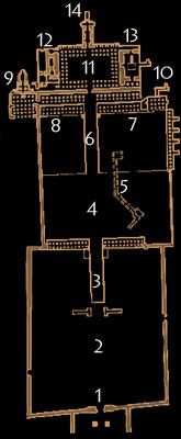 Plan of Hatshepsut's Mortuary Temple