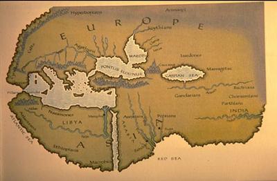 Map drawn by Herodotus