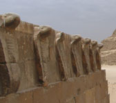 Cobra frieze on the south tomb of Djoser's step pyramid complex (copyright marclo)
