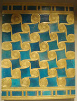 Faience tiles from the Malkata Palace of Amenhotep III (copyright Keith Schengili-Roberts)