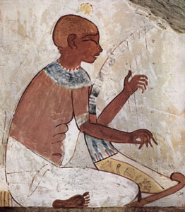 Harper in the tomb of Nakht  from www.egyptarchive.co.uk