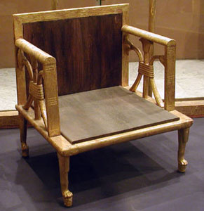 Chair from the burial of Hetepheres I from www.egyptarchive.co.uk