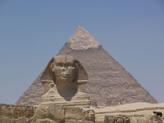 Khafre's pyramid and sphinx