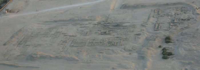 Aerial view of the Malkata Palace of Amenhotep III (copyright markh)