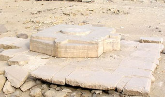 Altar of Niuserre's Solar Temple from www.egyptarchive.co.uk