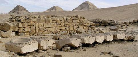 Offering basins in Niuserre's Solar Temple from www.egyptarchive.co.uk