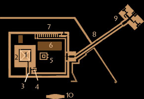 Plan of the sun temple of Niuserre