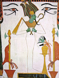 Osiris with the Heqa Staff and the Flail