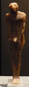 Wax ushabti, 11th dynasty (copyright Khruner)