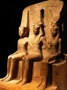 Mut with RamessesII and Amun (copyright http://www.flickr.com/photos/robven/)